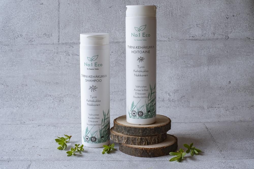No1 eco luonnollinen shampoo hoitoaine sulfaatiton parabeeniton
