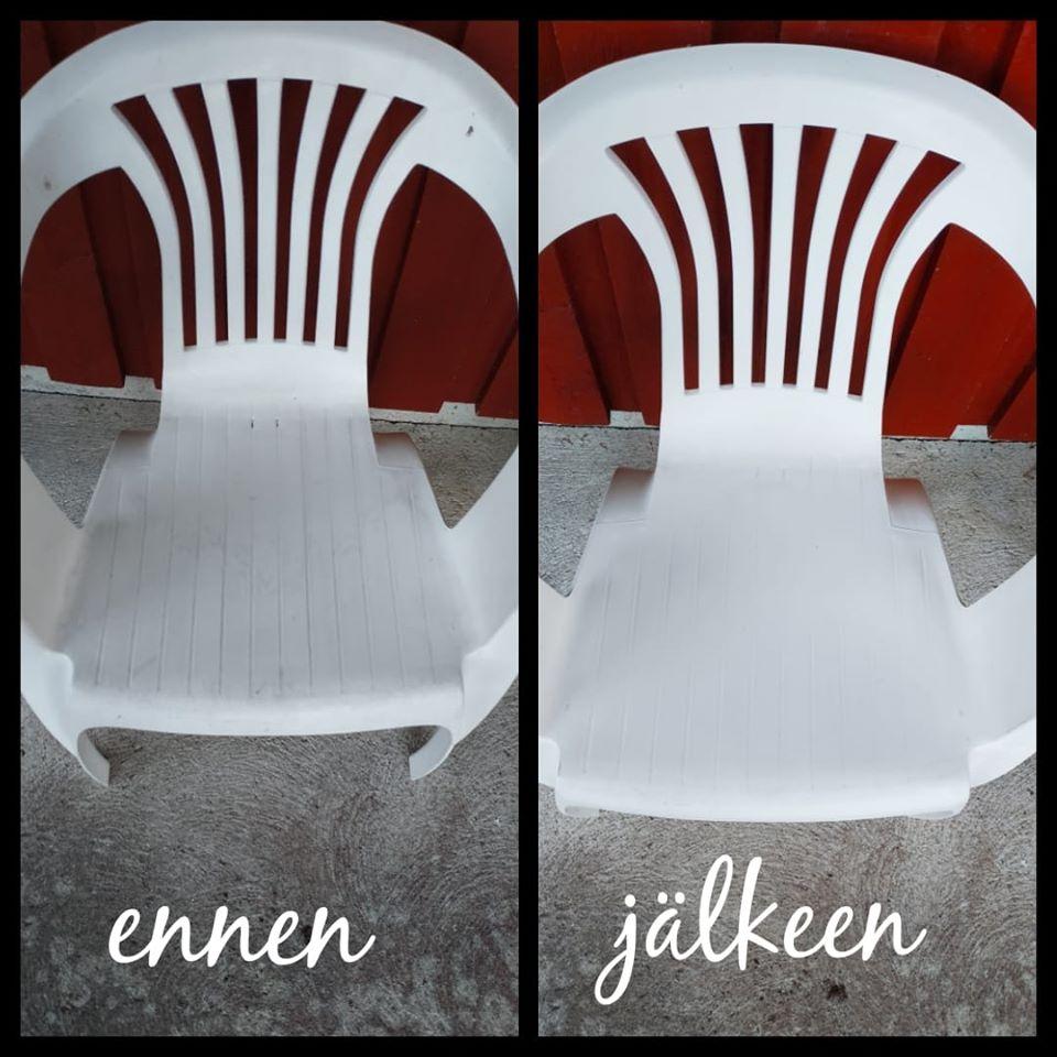 Puutarhatuolien puhdistus
