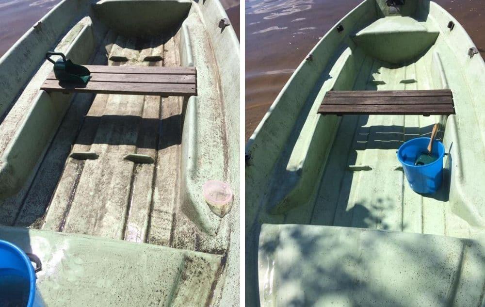 Saaren Taika ekologinen ja biohajoava siivoussaippua veneen pesuun sammaleen poistoon