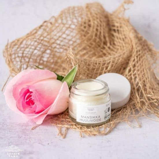Saaren Taika Ecolution Tehokkaasti kosteuttava ja hoitava mansikka huulivoide - Luonnollinen