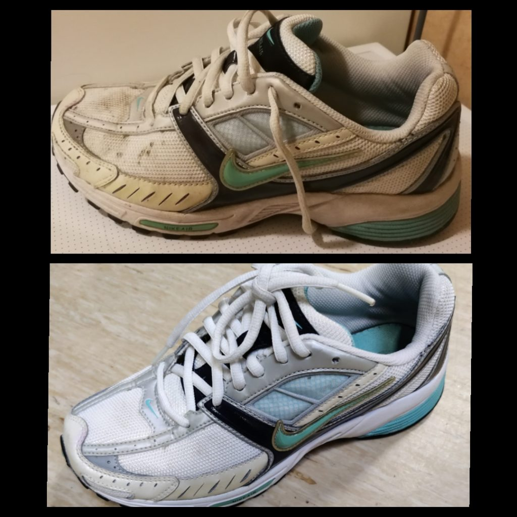 Siivous saippuan käytön ennen ja jälkeen kuva